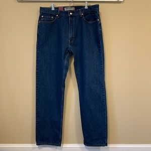 Levis 505 Regular Fit  Straight Leg Jeans 40x34